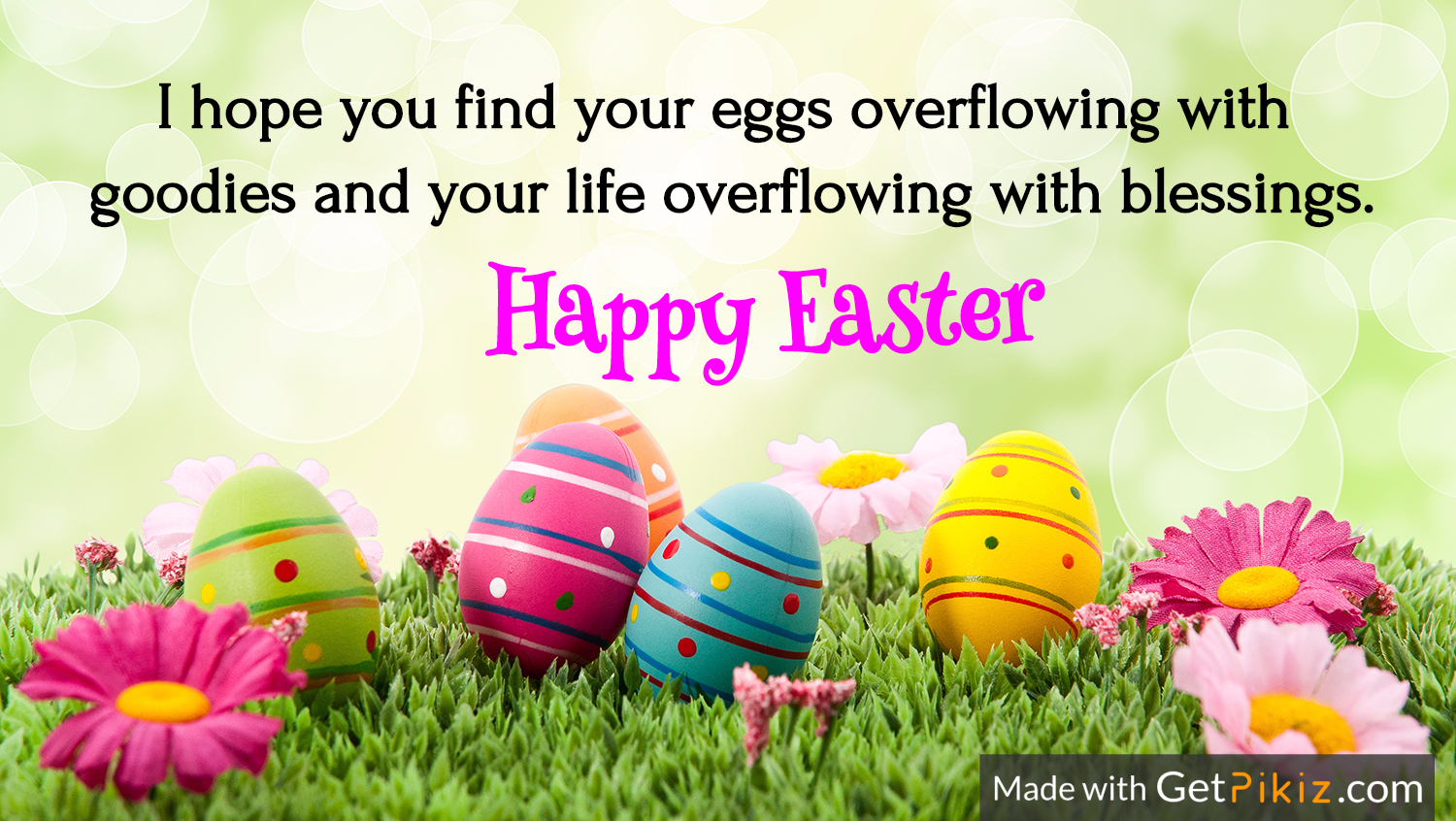I hope you find your eggs overflowing with  goodies and your life overflowing with blessings. Happy Easter