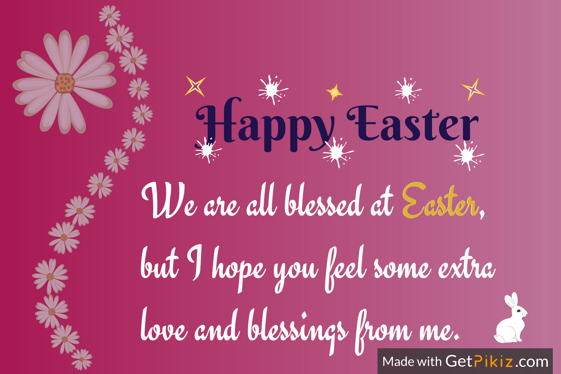 We are all blessed at Easter, but I hope you feel some extra  love and blessings from me. Easter Happy Easter